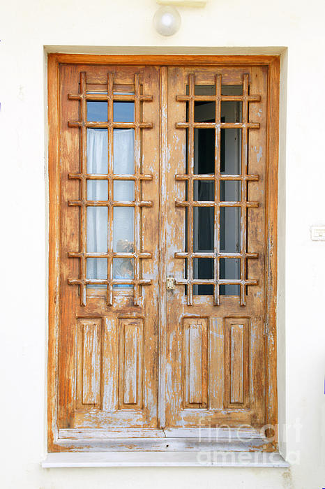 Doors In Greece Print by Maria Varnalis