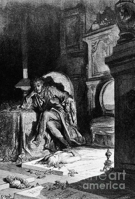Dor�: The Raven, 1882 Print by Granger
