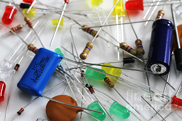 Electronic Components Print by Photo Researchers, Inc.