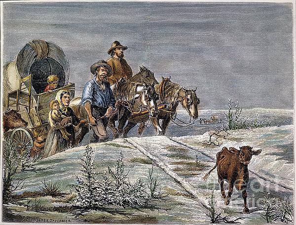 Emigrants, 1874 Print by Granger