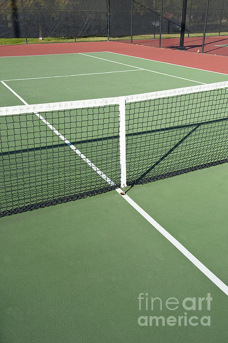 Empty Tennis Court Print by Thom Gourley/Flatbread Images, LLC