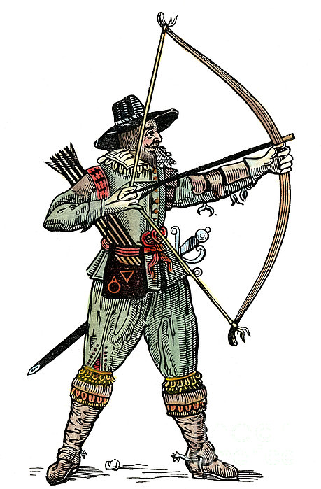 English Archer, 1634 Print by Granger