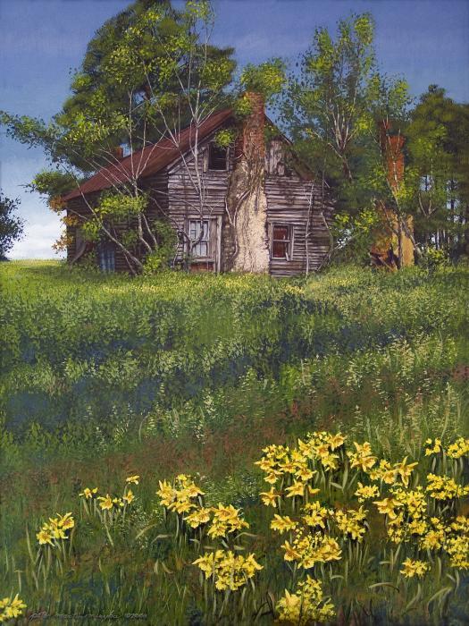 Fairplay Farmhouse Print by Peter Muzyka