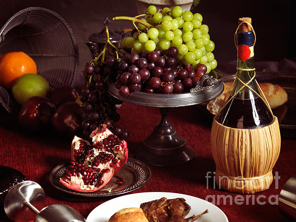 Festive Dinner Still Life Print by Oleksiy Maksymenko