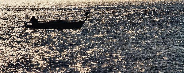 Fisherman Print by Stylianos Kleanthous