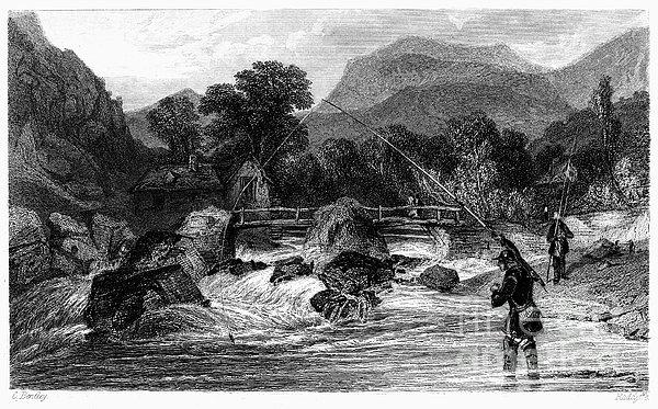 Fishing, 19th Century Print by Granger
