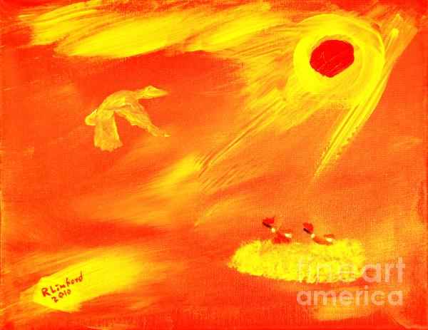 Flying Into The Son 1 Painting  - Flying Into The Son 1 Fine Art Print