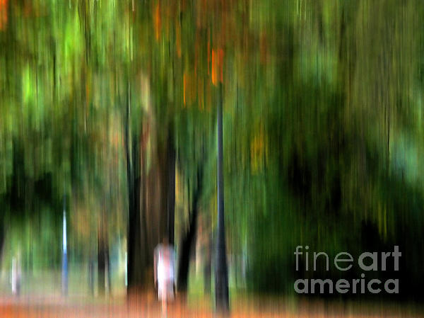 Forest Abstract Print by Odon Czintos