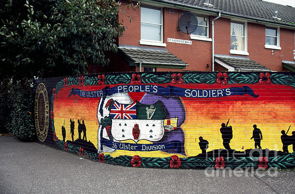 Freedom Corner Mural Belfast Print by Thomas R Fletcher