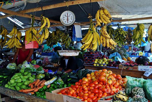 Fruit For Sale Print by Li Newton