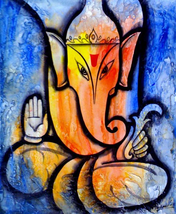 Ganesha Print by Keshaw Kumar