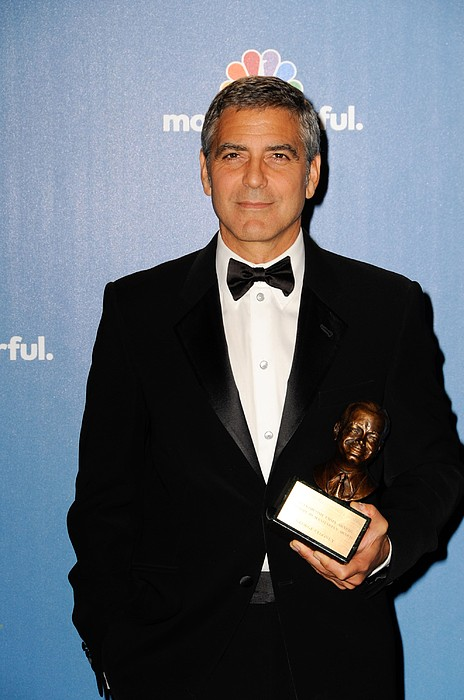George Clooney Wearing Giorgio Armani Print by Everett