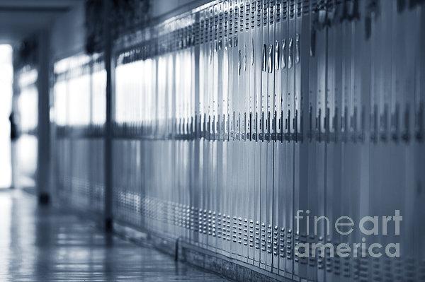 Grade School Lockers Print by Will & Deni McIntyre