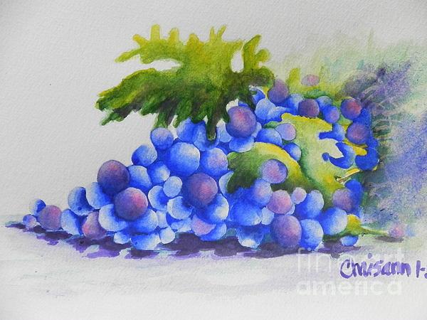 Grapes Print by Chrisann Ellis