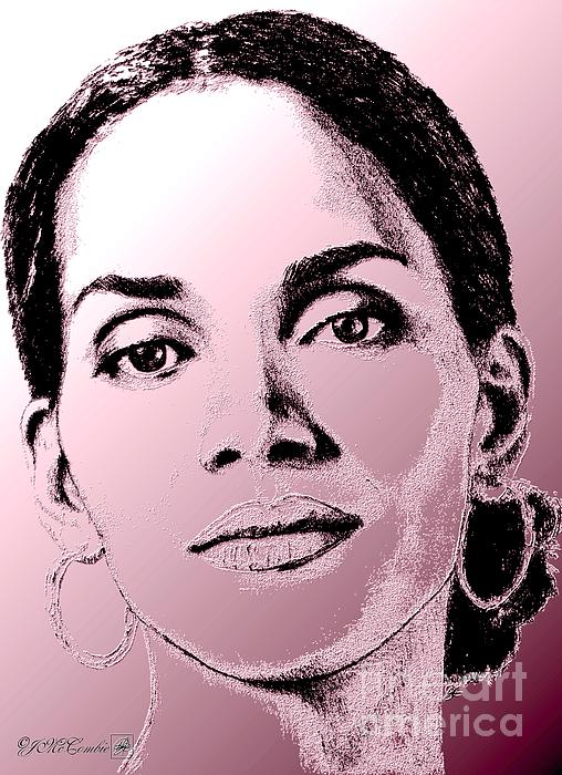Halle Berry In 2008 Print by J McCombie