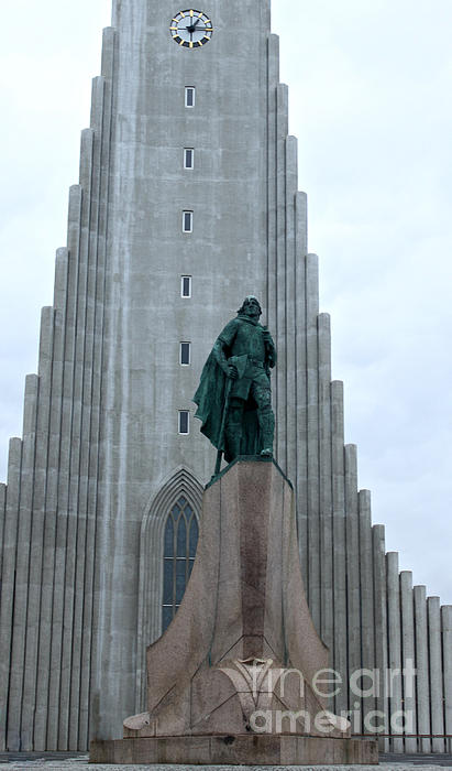 Hallgrimskirkja Church - Reykjavik Iceland Print by Gregory Dyer