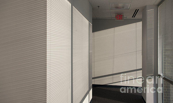 Hallway Of An Office Building Print by Will & Deni McIntyre
