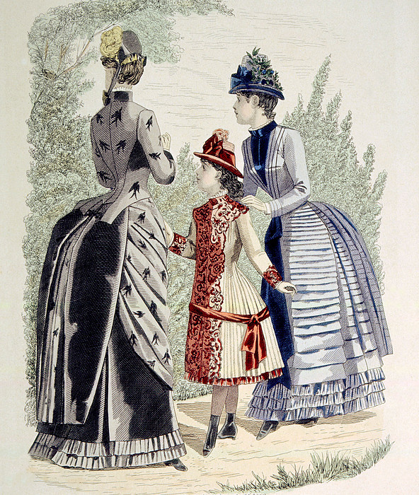 Hand-colored Engraving Of Two Women Print by Everett