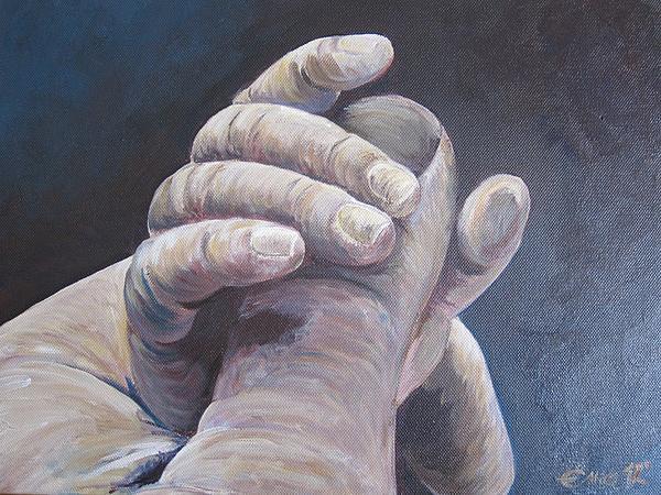 Hand In Hand Print by Ema Dolinar Lovsin