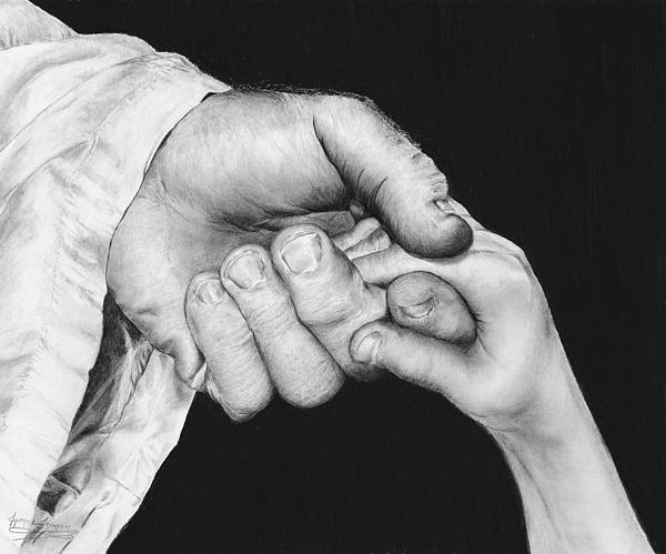 He Leadeth Me Print by Jyvonne Inman