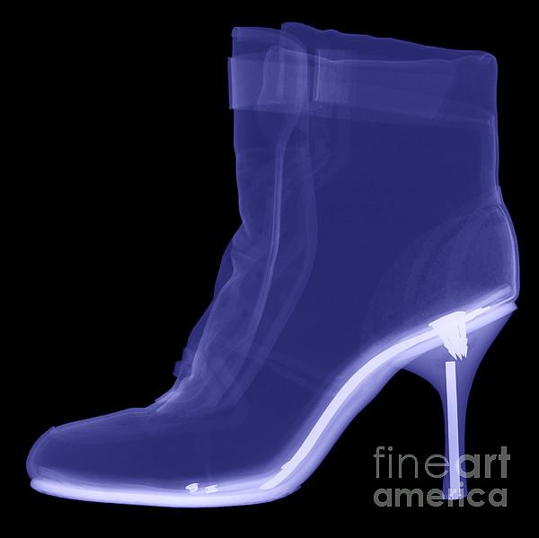 High Heel Boot X-ray Print by Ted Kinsman