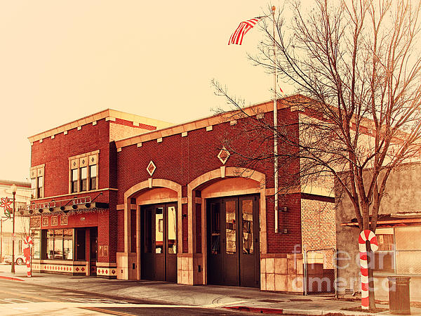 Historic Niles District In California Near Fremont . Niles Fire Station Number 2 . 7d10732 Print by Wingsdomain Art and Photography