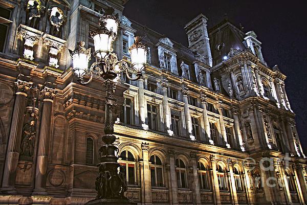 Hotel De Ville In Paris Print by Elena Elisseeva
