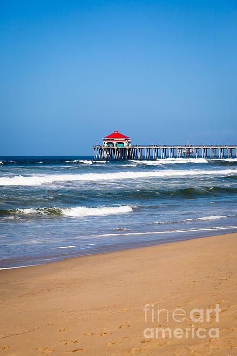 Huntington Beach Pier In Orange County California Print by Paul Velgos