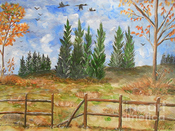 I Lift My Eyes Up To The Hills...... Print by Barbara McNeil