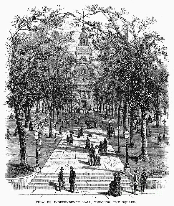 Independence Hall, C1876 Print by Granger