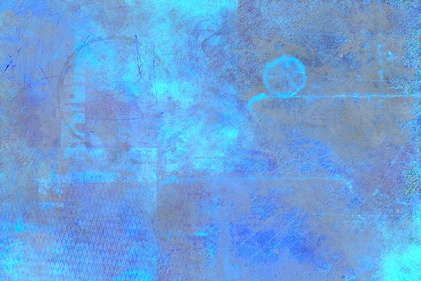 Iridescent Aquamarine Print by Christopher Gaston