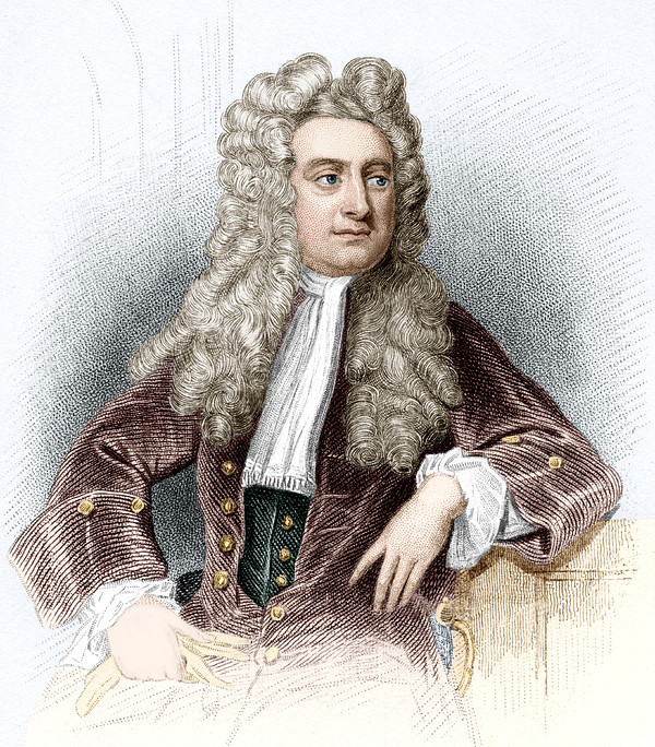 Isaac Newton, English Physicist Print by Sheila Terry