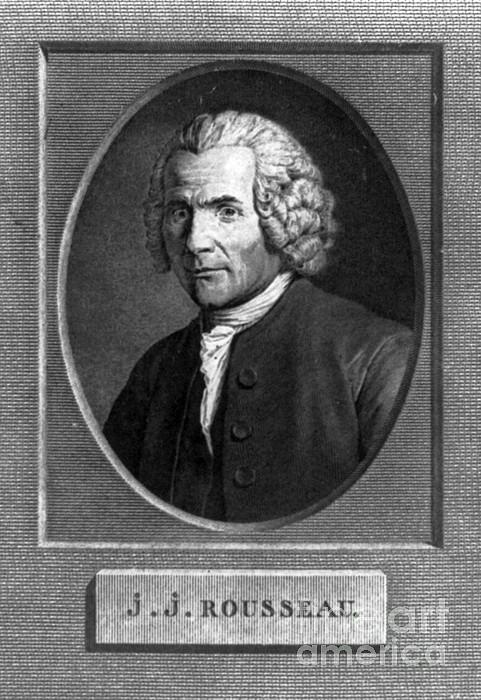 Jean-jacques Rousseau, Swiss Philosopher Print by Photo Researchers