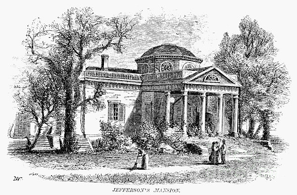 Jefferson: Monticello Print by Granger