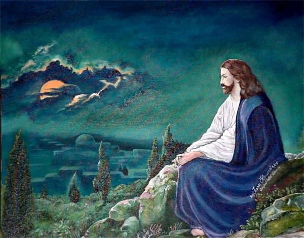 jesus praying  terri flowers