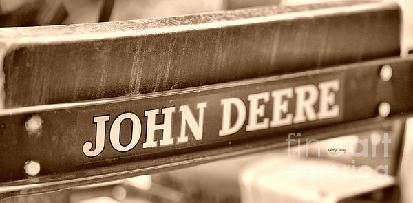 John Deere Print by Cheryl Young