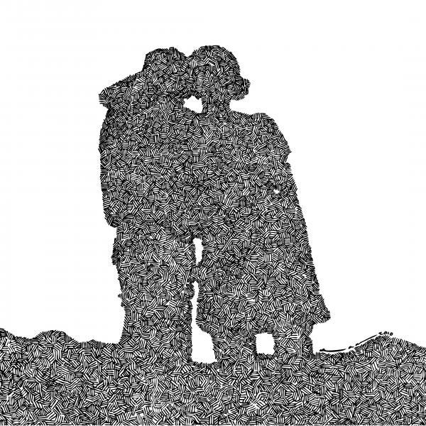 Lara And Felix Print by Karl Addison