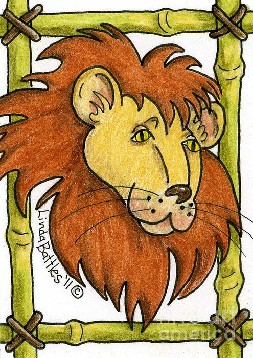 Leo Print by Linda Battles