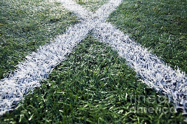 Lines On Sports Field Print by Paul Edmondson