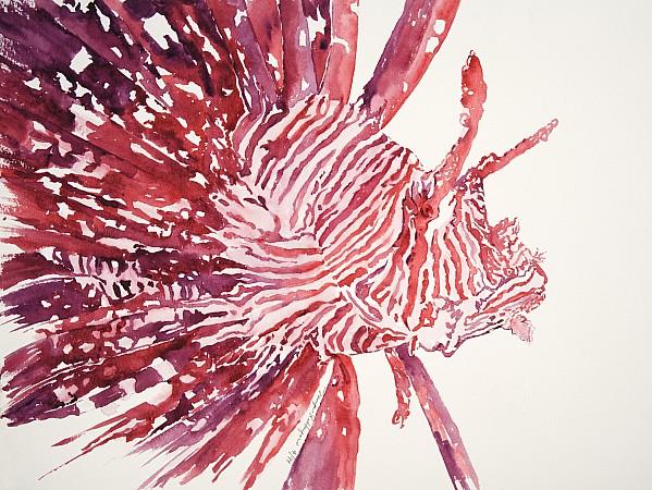 Lionfish Print by Tanya L Haynes - Printscapes