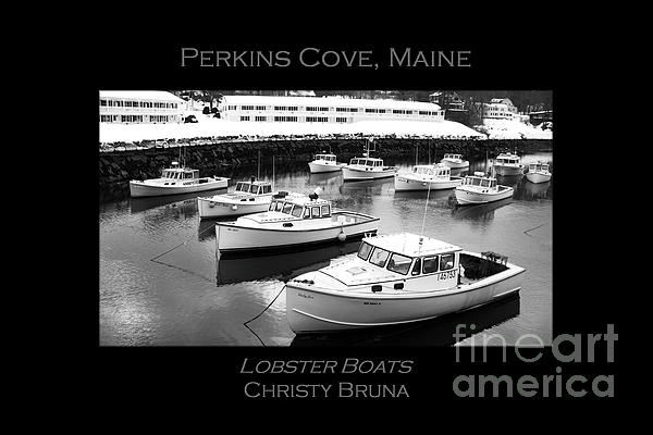 Lobster Boats Print by Christy Bruna