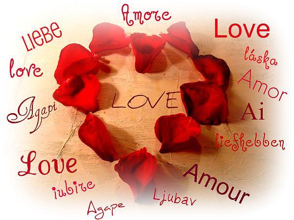 Love In Any Language Print by Kathy Bucari