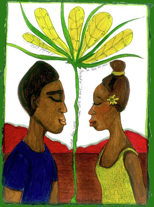 Love Print by Sibel Kantola