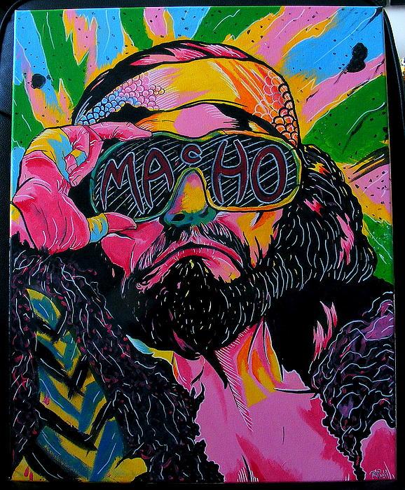 Macho Man Print by Brian Typhair