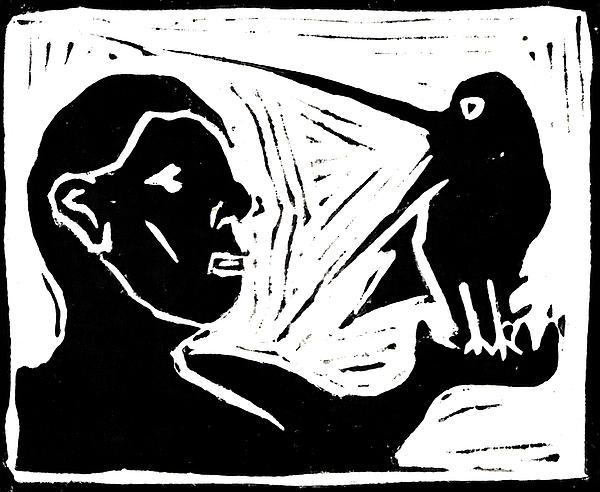 Man Holding A Bird Print by Anon Artist