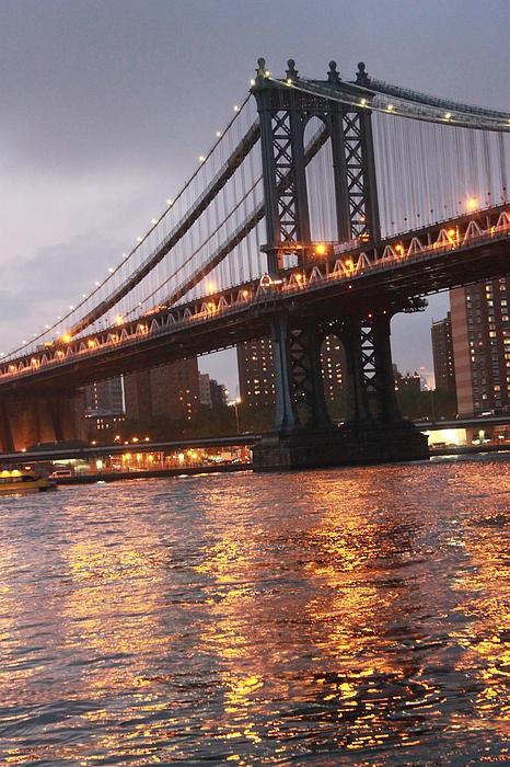 Manhattan Bridge Print by Nina Mirhabibi