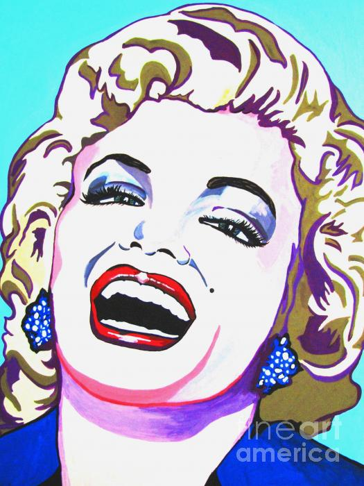 Marilyn Print by Colleen Kammerer