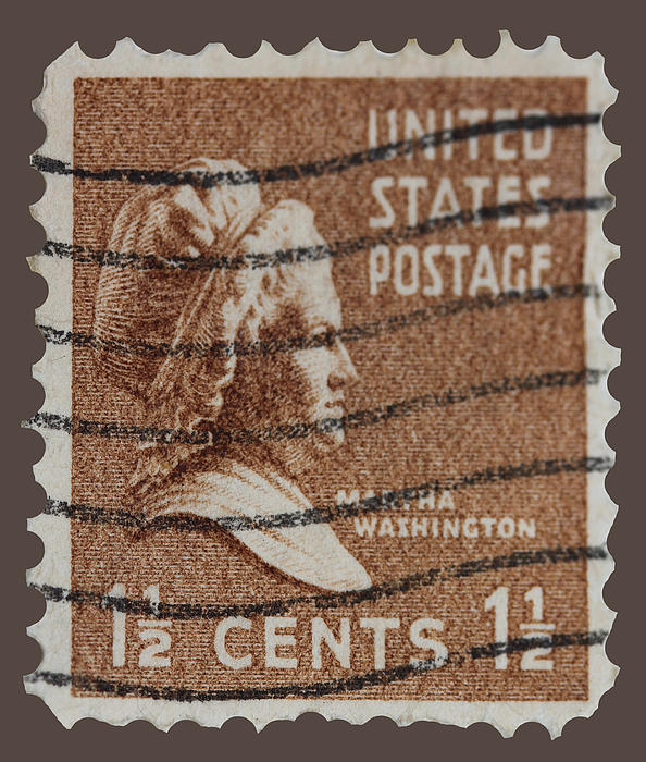Martha Washington Postage Stamp Print by James Hill