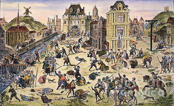 Massacre Of Huguenots Print by Granger
