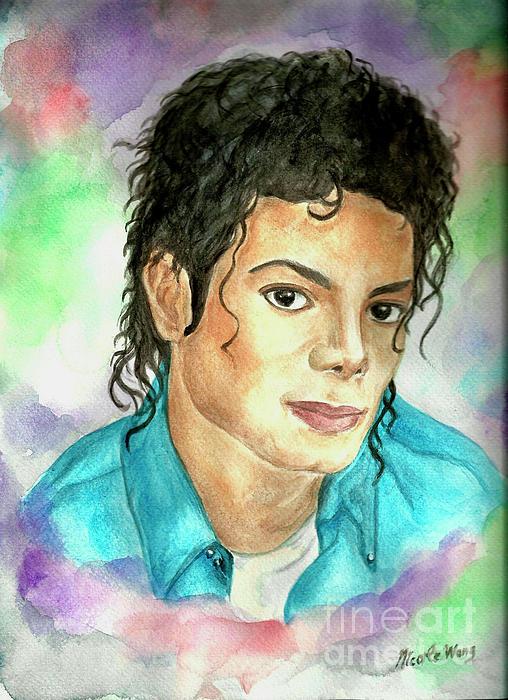 Michael Jackson - The Way You Make Me Feel Print by Nicole Wang